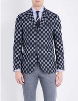 Lardini Cross-stitch regular-fit cotton jacket