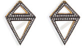 Noor Fares 18K Gold Octahedron Earrings with White Diamonds