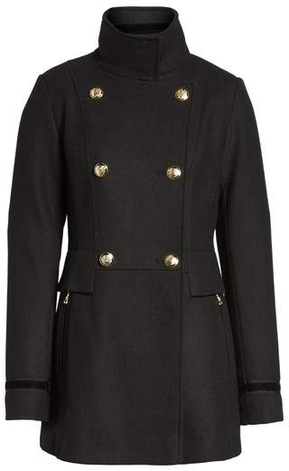 Vince Camuto Women's Wool Blend Military Coat