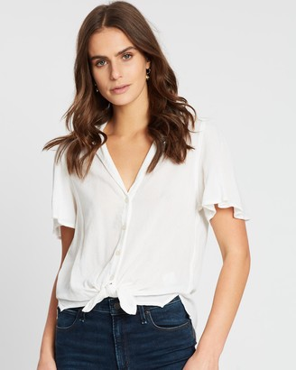 Abercrombie & Fitch Flutter Sleeve Shirt