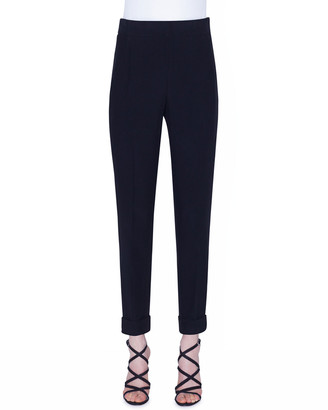 Akris Chris Cuffed Crepe Ankle Pants