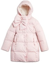 Kate Spade Girls' Bow Neck Down Puffer Coat - Sizes 7-14