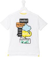 Fendi logo print T-shirt - kids - Cotton - 4 yrs