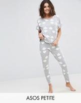 Asos Rainbow Tee & Legging Pajama Set