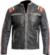 LP-FACON Café Racer Retro Vintage Motorcycle Slimfit Leather Jacket