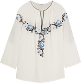 Vilshenko Vassi embroidered cotton-twill blouse