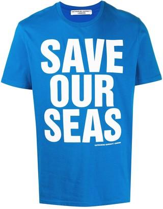 Katharine Hamnett slogan print organic cotton T-shirt
