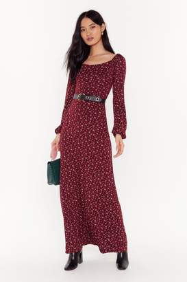 Nasty Gal Womens Here We Grow Again Floral Maxi Dress - red - 6