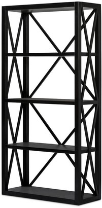One World Sorrento Shelving Unit Black