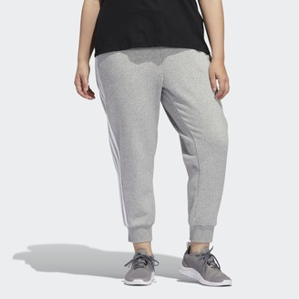 adidas Essentials 3-Stripes Fleece Joggers (Plus Size)