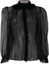 Simone Rocha embellished collar sheer blouse