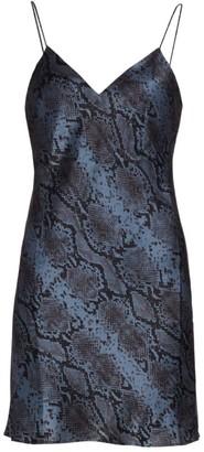 CAMI NYC Roxanne Snakeskin Print Silk Slip Dress