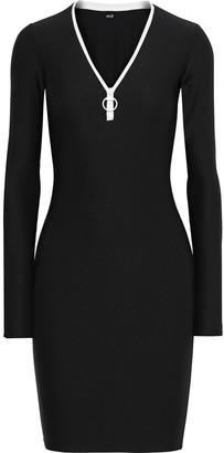 Alix Snyder Zip-detailed Stretch-jersey Mini Dress
