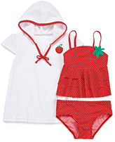 Asstd National Brand Sol Swim 3-pc. Strawberry Doll Swimsuit and Coverup Set - Toddler Girls 2-4t
