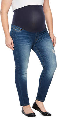 BELLE + SKY Belle & Sky Womens High Waisted Over Belly Skinny Fit Jean - Plus Maternity