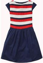 Tommy Hilfiger Embellished Rayon Stripe Dress Slvls
