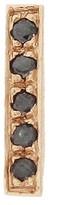 Jennifer Meyer Black Diamond Bar Single Stud Earring - Rose Gold