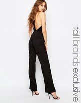 True Decadence Tall Strappy Open Back Detail Jumpsuit