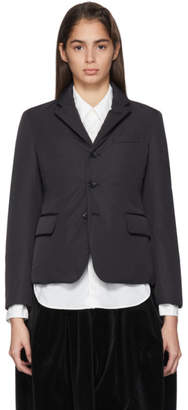 Comme des Garcons Black Padded Poly Twill Blazer