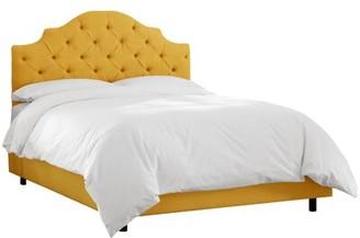 Wayfair Custom UpholsteryTM Tufted Notched Upholstered Standard Bed Wayfair Custom UpholsteryTM