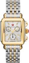 Michele Deco Diamond Chronograph Watch Head & Bracelet, 33mm