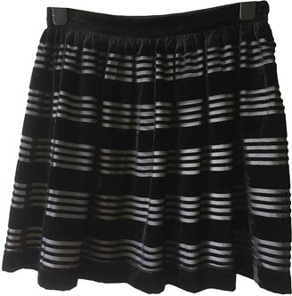 Jack Wills Black Velvet Skirt for Women