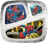 Zak Designs Marvel Spider-Man Kid's Divided Plate by