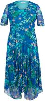 House of Fraser Chesca Plus Size Floral Print Mesh Dress