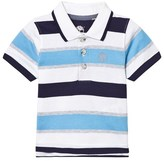 Timberland Pacific Blue, Navy and White Stripe Jersey Polo