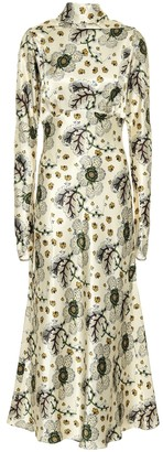Etro Floral satin maxi dress