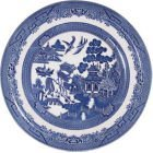 Churchill Blu Willow Mint Dinner Plate 26CM, Ceramic, Multi-Colour, 26 x 26 x 1 cm