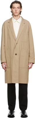 Issey Miyake Beige Gabardine Coat