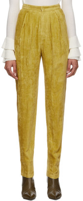 Isabel Marant Yellow Fany Pants