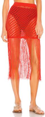 Camila Coelho Ipanema Crochet Skirt