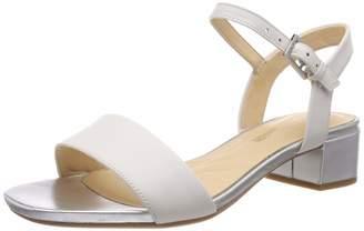 Clarks Women's Orabella Iris Ankle Strap Sandals (White Combi Leather 7 UK