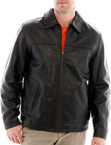 JCPenney Excelled Leather Excelled Rugged Leather Hipster Jacket