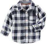 Osh Kosh Double Gingham Button-Front Shirt