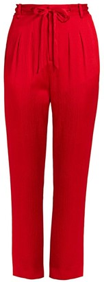 Roland Mouret Biltmore Crinkle Stretch-Silk Trousers