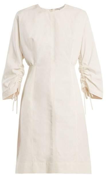 Stella McCartney Round Neck Cocoon Long Sleeved Dress - Womens - Cream