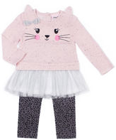 Little Lass 2-pc. Legging Set-Preschool Girls