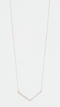 Adina 14k Large Pave V Necklace