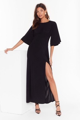 Nasty Gal Womens Angel in Disguise Wide Sleeve Maxi Dress - Black