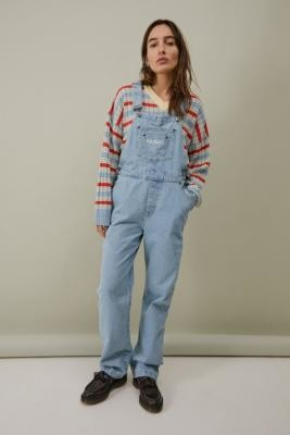 Kickers Light-Wash Denim Dungarees - Blue XS at Urban Outfitters