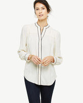 Ann Taylor Piped Blouse