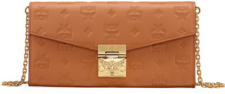 MCM Patricia Large Monogrammed Leather Two-Fold Flap Wallet