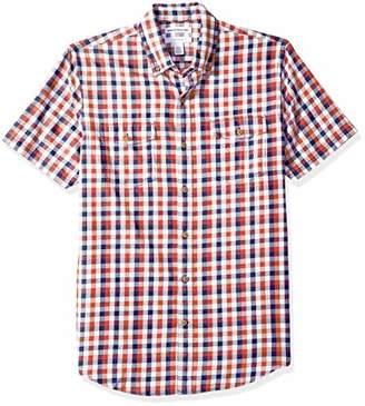 Amazon Essentials Men's Slim-Fit Short-Sleeve Two-Pocket Twill Shirt,Small