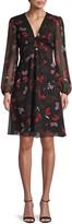 Diane von Furstenberg Kala Chiffon Long-Sleeve Flare Dress