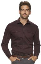 Marc Anthony Men's Slim-Fit Military Stretch Button-Down Shirt