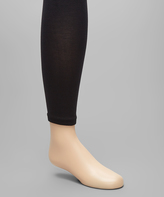 Me Moi Black Pima Footless Tights - Toddler & Girls