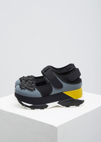 Marni grey / black / yellow platform sneaker shoe